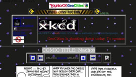 XKCD's tribute to Geocities