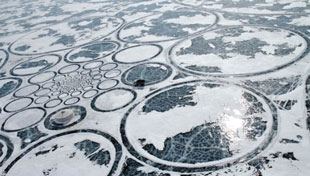 Lake Baikal ice artwork - nine square miles!