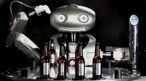 guy goes into a bar, there's a robot bartender...