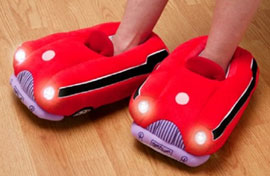 slippers with flashlights!
