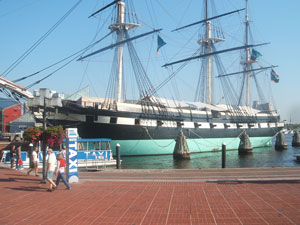 USS Constellation on the Baltimore Harbor Walk