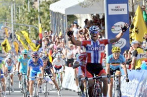 Thor Hushovd wins World Road Title