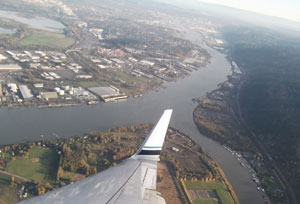splitting the Willamette River