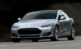 video of the Tesla Model S, driving. Wow!