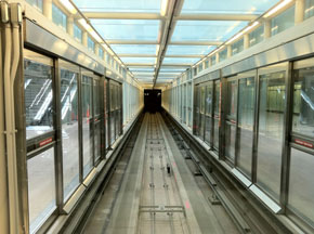 tunnel vision at Dulles airport