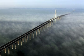 Chinese 26-mile bridge is the world's longest