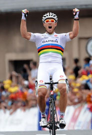 Thor Hushovd improbably but most excellently wins stage 13 with a great breakaway across the mountains