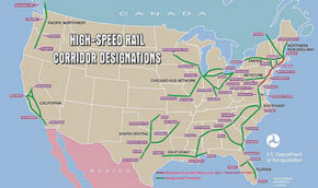 high-speed rail: planned corridor designations