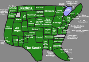 map of America as seen by a New Yorker :)