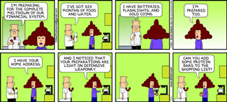 Dilbert: disaster preparation