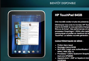 HP TouchPad 1.5MHz 64MB ... and now ... gone!