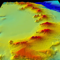 underwater volcanoes near Antarctica