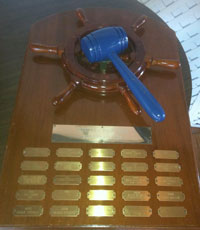 the venerable Blue Gavel trophy