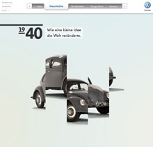Volkswagon's New Beetle page: just scroll :)