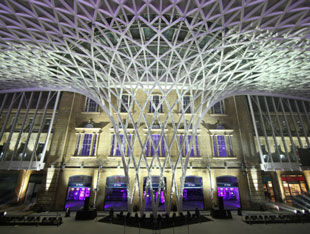 King's Cross station in London, UK
