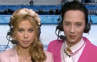 Tara Lipinsky and Johnny Weir