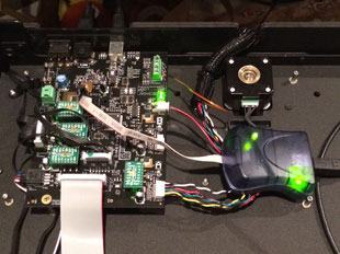 MakerBot MightBoard attached to AVR RISPmkII programmer