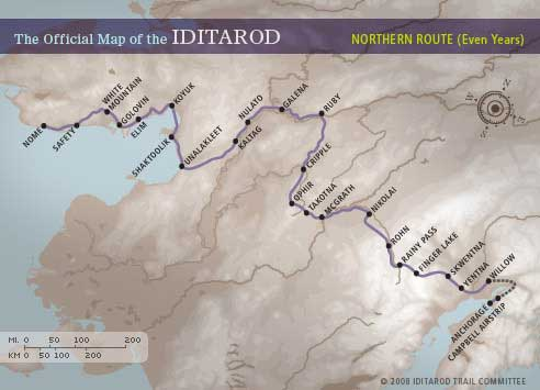 Iditarod Northern route