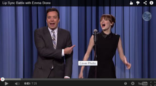 Jimmy Fallon and Emma Stone square off in a lip sync battle