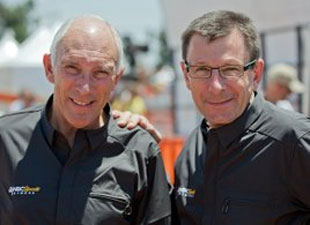 Phil Liggett and Paul Sherwin, the voices of July...