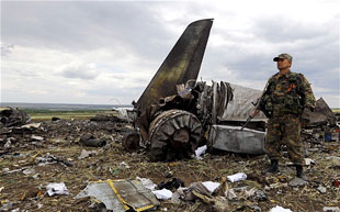 airliner shot down by military missles in the Ukraine