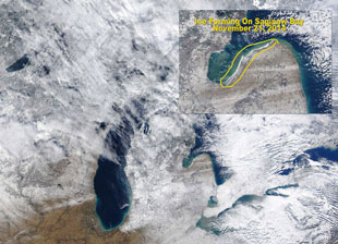 great lakes ice cover forming *already*