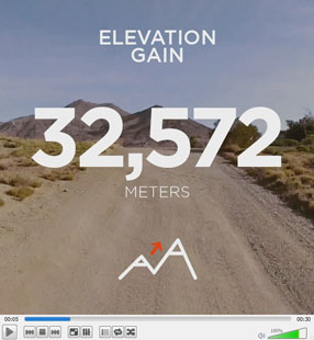 My Strava year-in-review video