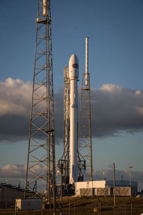 SpaceX Falcon 9 rocket, ready for takeoff