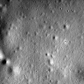 Messenger's last photo of Mercury