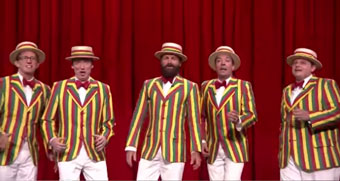 Sting joins Jimmy Fallon to sing 'Roxanne' in a barbershop quintet