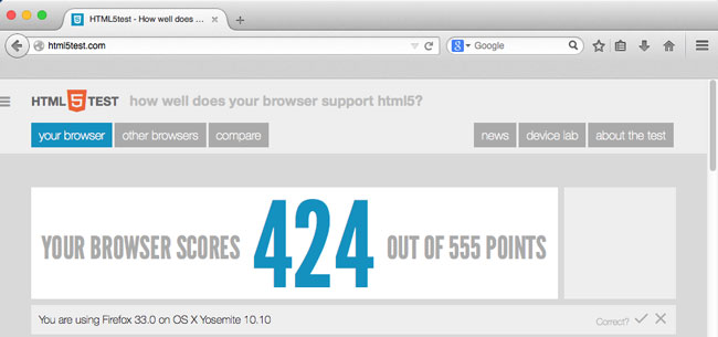 Firefox on OS X Yosemite (10.10)