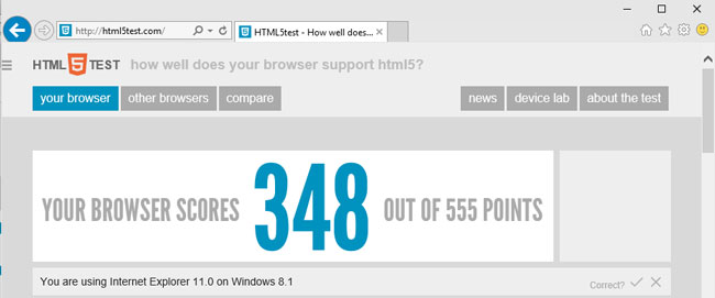IE on Win 10