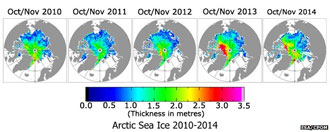 Arctic Sea Ice 2010-2014