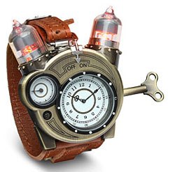 Tesla steampunk watch