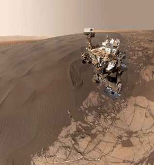 Curiosity selfie - an amazing composite