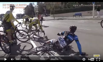 professional peloton blows over