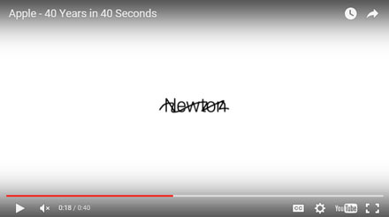 Apple: 40 years in 40 seconds