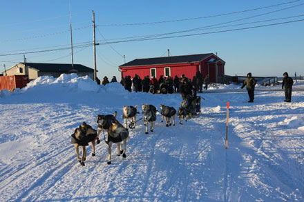 Dallas Seavey and team at Shaktoolik