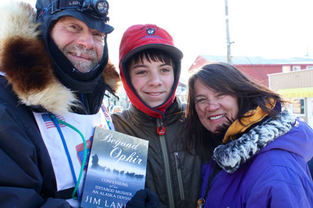 musher Jim Lanier, author of Beyond Ophir, competing in his 5th decade of Iditarods