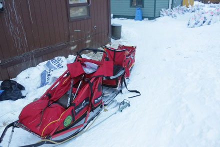"Mitch Seavey's sled (showing ""caboose"")"