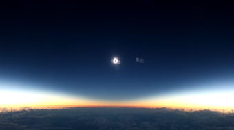 Solar Eclipse from Alaska Air