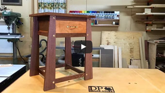 working video: table with hidden compartment