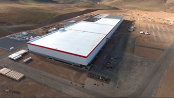 Tesla gigafactory as seen by a drone
