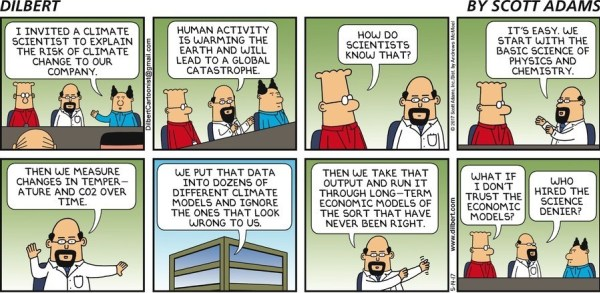 Dilbert on climate science.