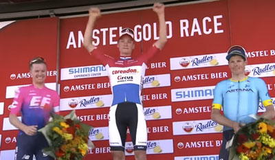 Mathieu van der Poel wins Amstel Gold with incredible attack