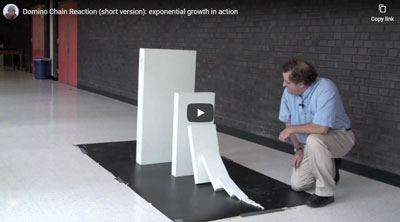 exponential domino chain reaction