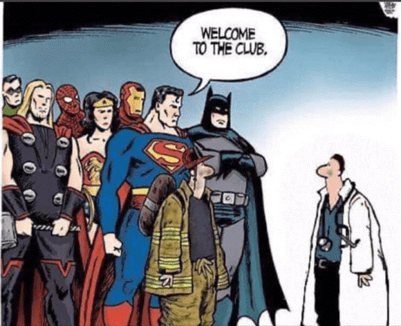 welcome to the club ... of superheros
