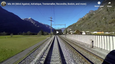 Swiss Trains speed through the Swiss countryside to Techno Beats