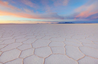 Flattest place on Earth: Salar de Uyuni, Bolivia