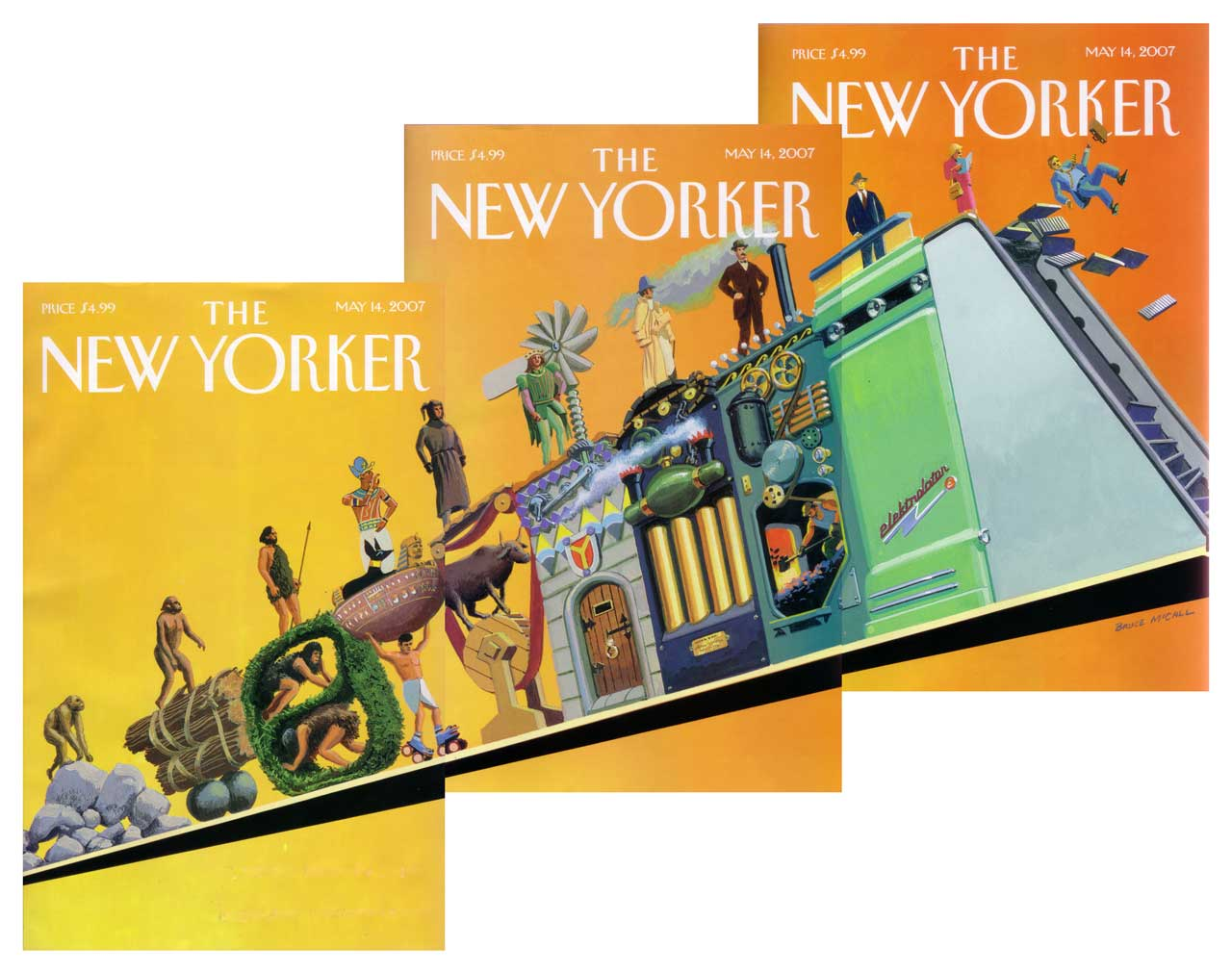 New Yorkers Covers About Ascent Of Man >> Critical Section New Yorker 5 14 2007 The Ascent Of Man